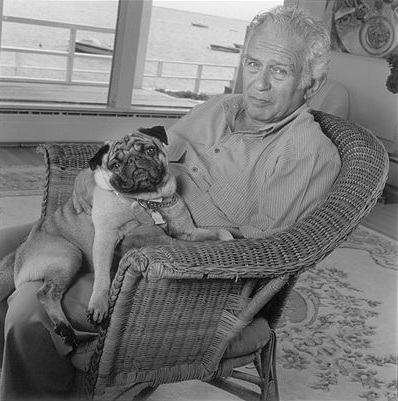 Norman Mailer and his pug