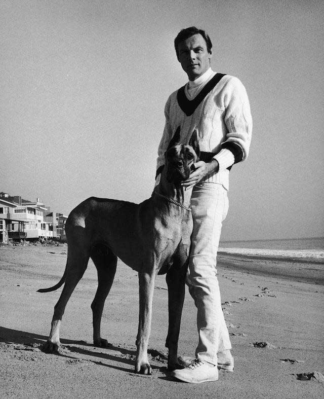 Adam West with great dane
