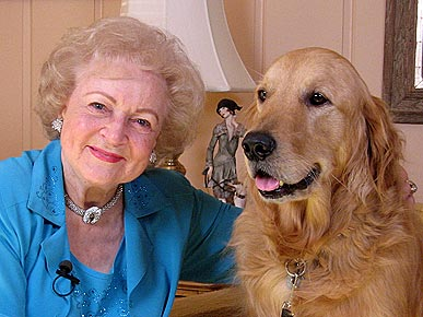 Betty White with dog