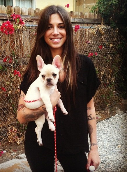 Christina Perri dog