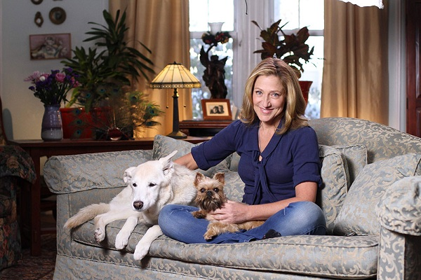 Edie Falco dogs