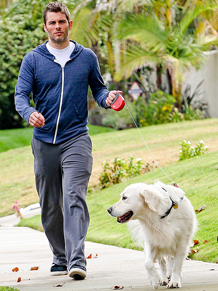 James Marsden with dog