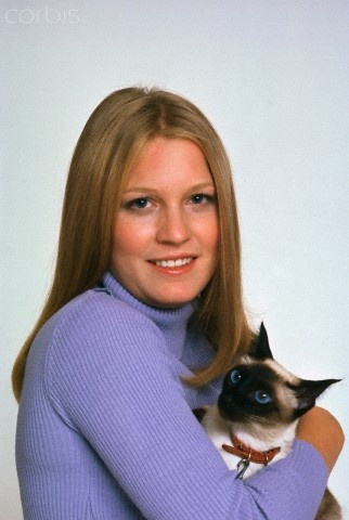 Susan Ford with her cat