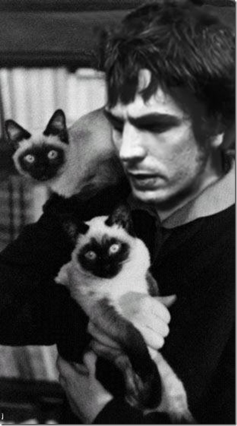 Syd Barrett with cats
