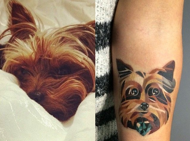 the 10 coolest yorkshire terrier tattoo designs in the world sonderlives. Black Bedroom Furniture Sets. Home Design Ideas