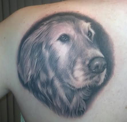 golden retrievers puppies tattoo pictures to pin on pinterest. Black Bedroom Furniture Sets. Home Design Ideas