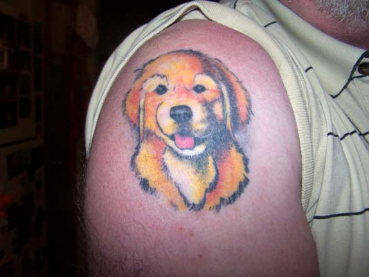 Pictures Of Golden Retriever Tattoo Rock Cafe