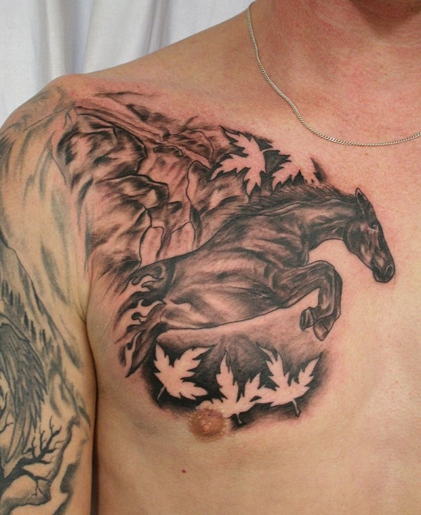 The 25 coolest horse tattoo designs in the world for Horse jumping tattoos