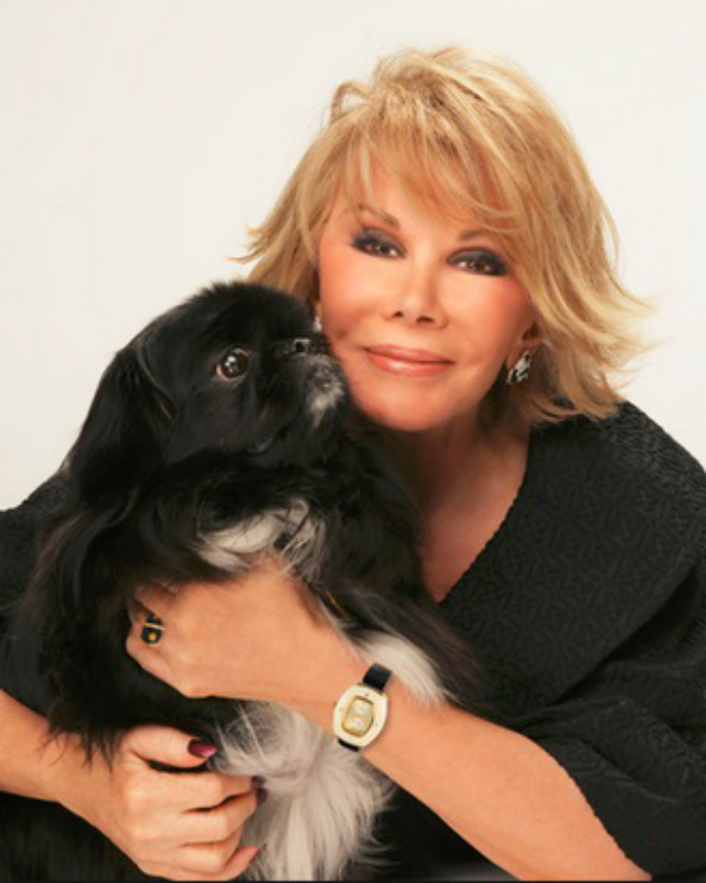 Joan Rivers pekingese