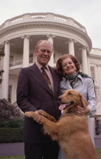 Gerald Ford wife dog liberty