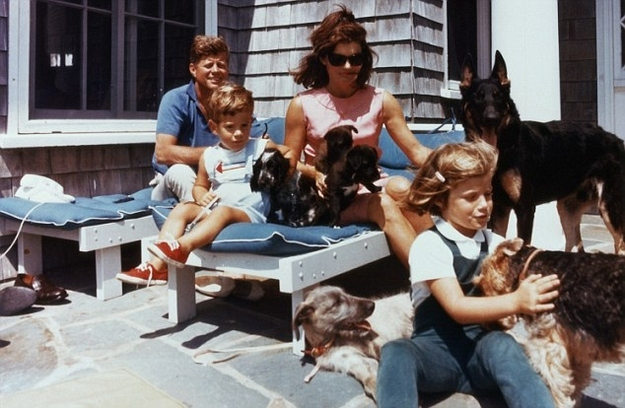 John F. Kennedy and his family