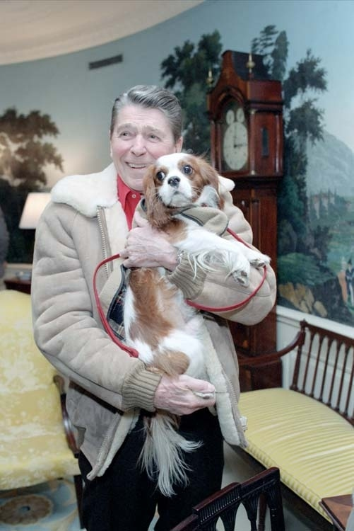 Ronald Reagan his dog Rex