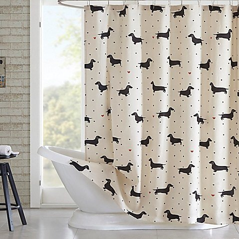 shower curtain with dachshunds