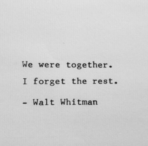 Love quote by Walt Whitman