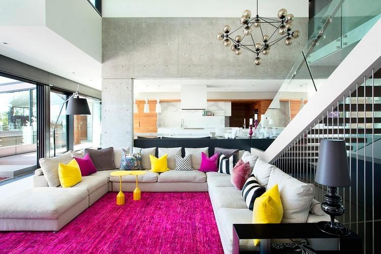 modern private house Groveland living room
