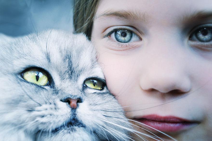 cute cat face girl