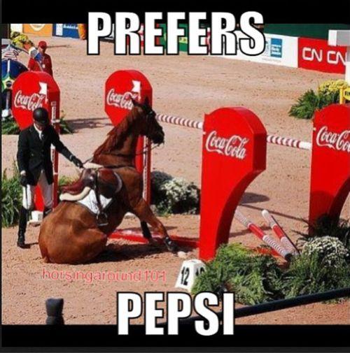 funny horse pepsi