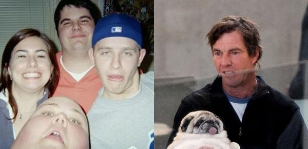 The Man Who Looks Like a Thumb and pug