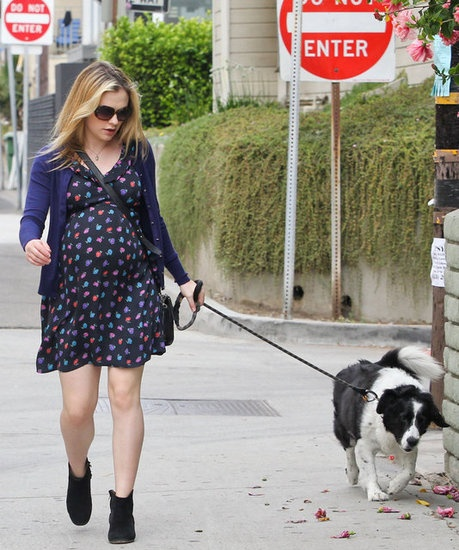Anna Paquin with dog