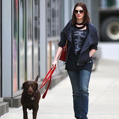 Anne Hathaway dog Esmerelda