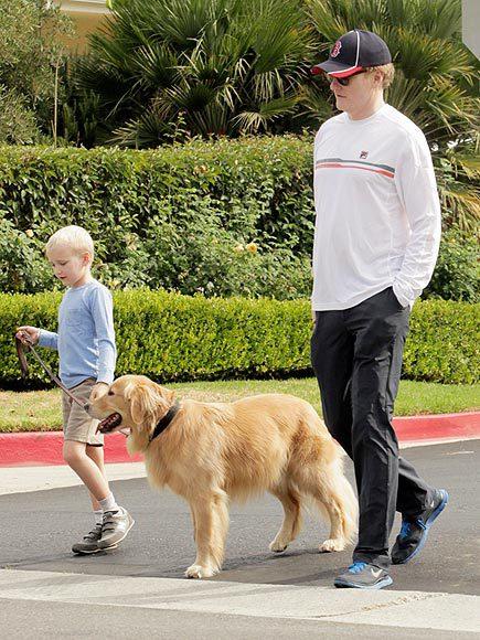 Conan O'Brien kid golden retriever