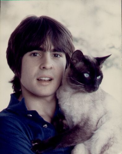 Davy Jones with cat