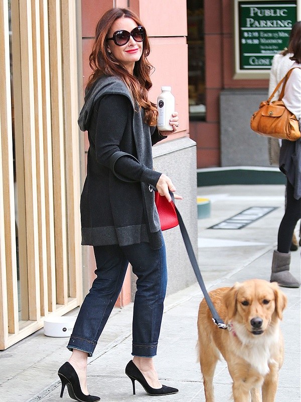 Kyle Richards with golden