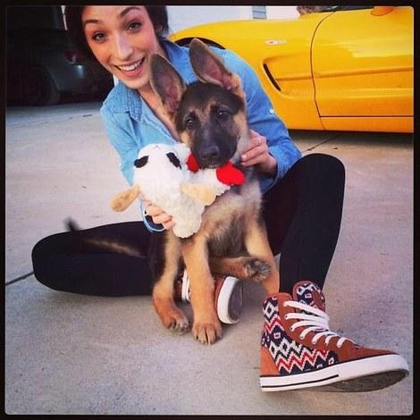 Meryl Davis and her dog
