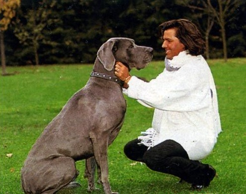 Thomas Anderson with great dane