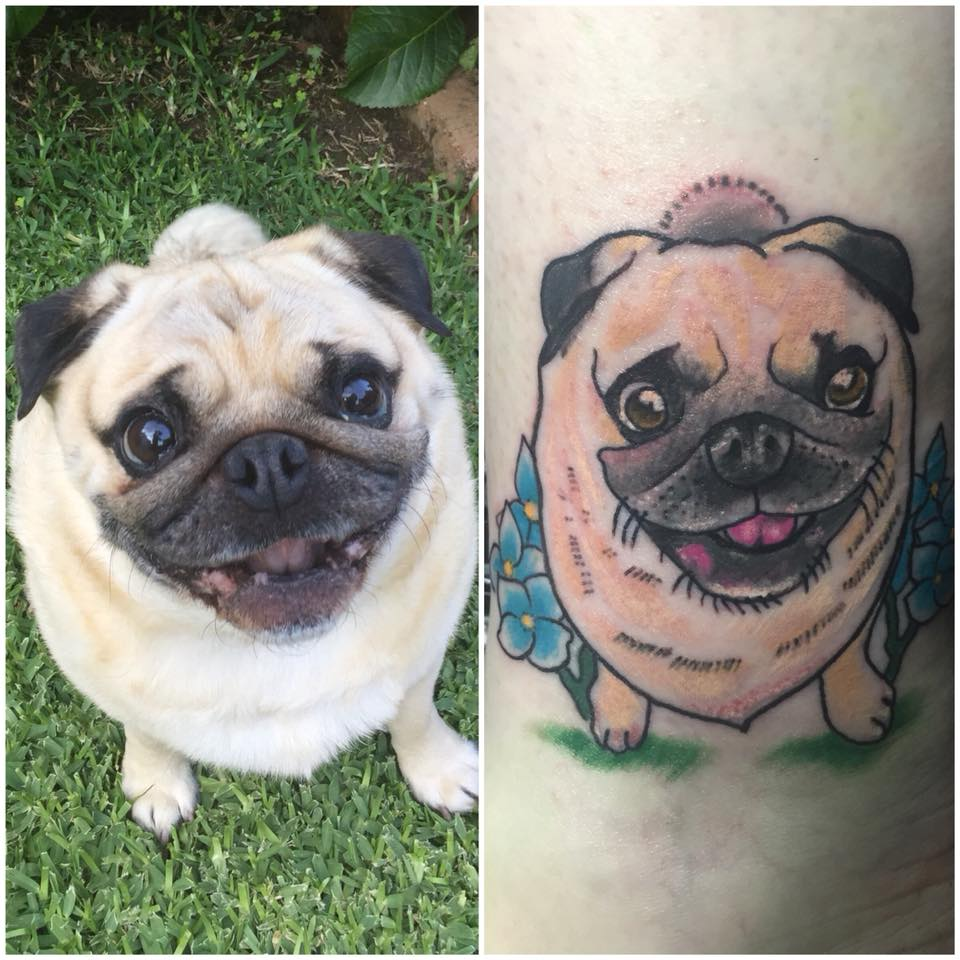 The 12 Coolest Pug Tattoo Designs In The World 1