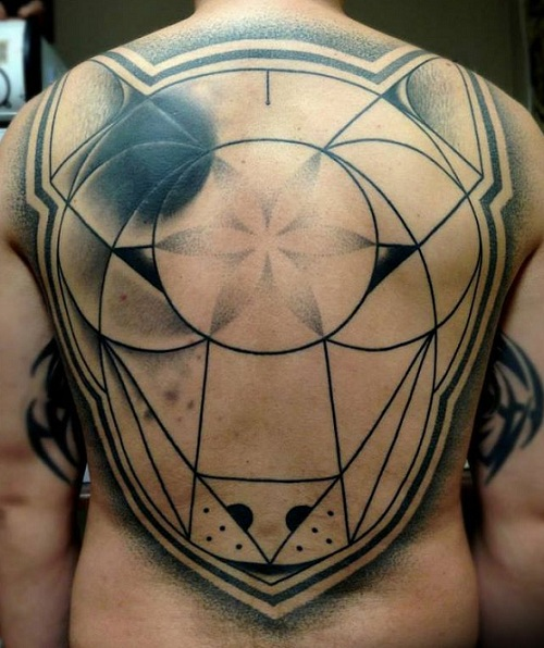 English Bull Terrier Tattoo back