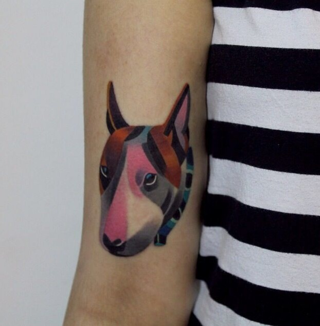 English Bull Terrier Tattoo image