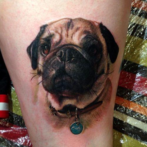 pug face tattoo design ideas