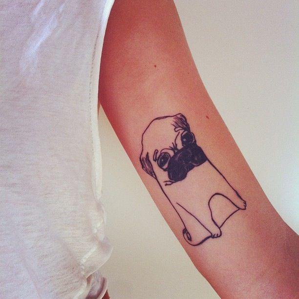 pug tattoo design