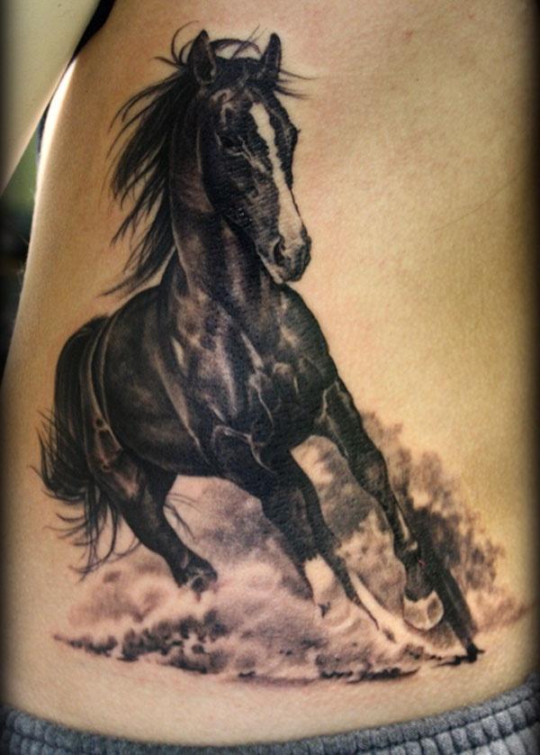 3D-horse-tattoo-black photo