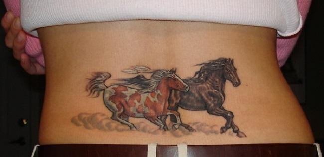 Amazing-Horse-Tattoo- running back