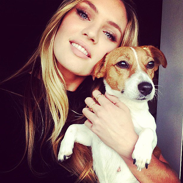 Candice Swanepoel Jack Russell