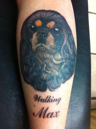 Cavalier King Charles Spaniel tattoo stylish