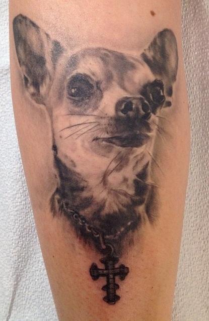 Chihuahua black tattoo ideas