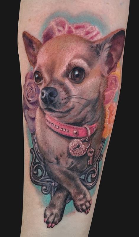 the 14 coolest chihuahua tattoo designs in the world. Black Bedroom Furniture Sets. Home Design Ideas