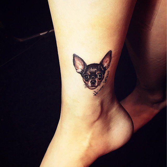 Chihuahua miniature tattoo for legs