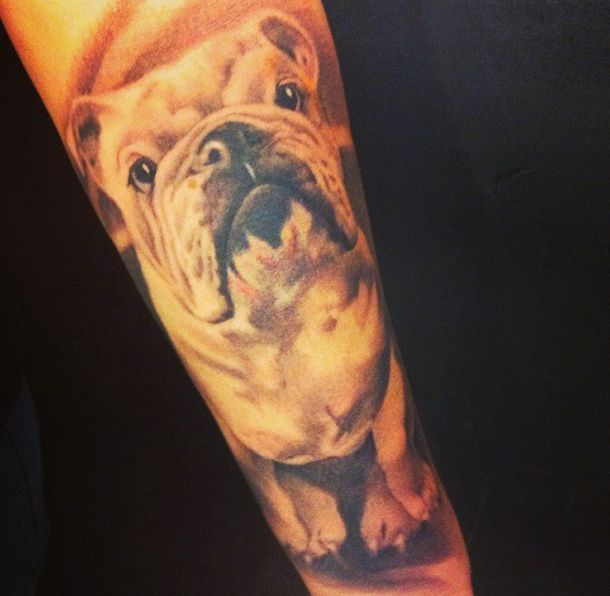 the 10 coolest english bulldog tattoo designs in the world. Black Bedroom Furniture Sets. Home Design Ideas