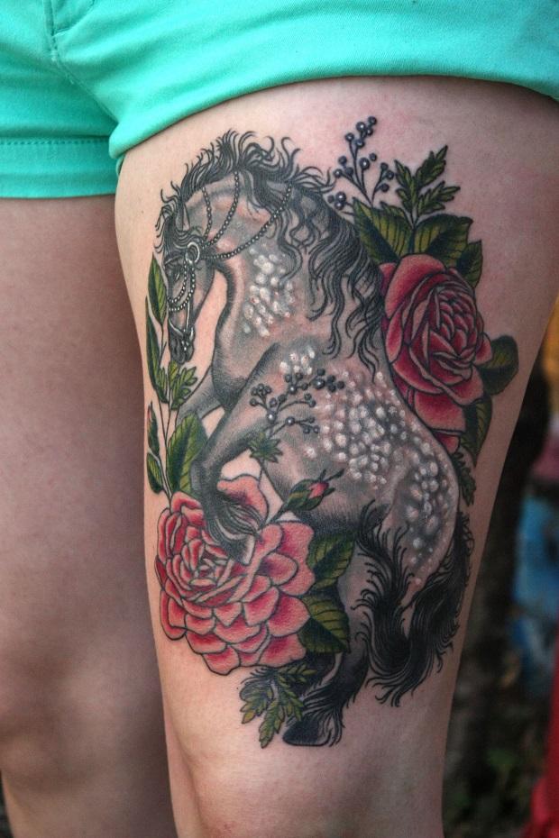 Equine tattoo color design
