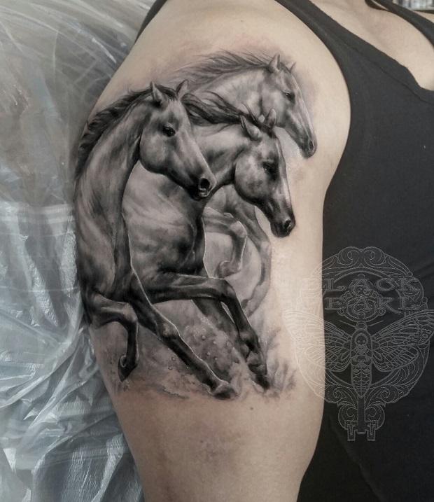 Equine tattoo cool design