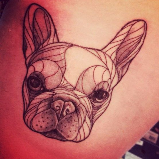 French Bulldog tattoo black
