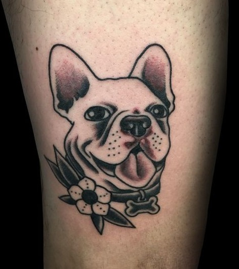 French Bulldog tattoo design