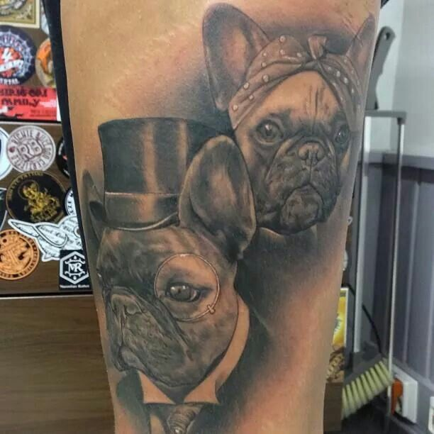 French Bulldog tattoo ideas