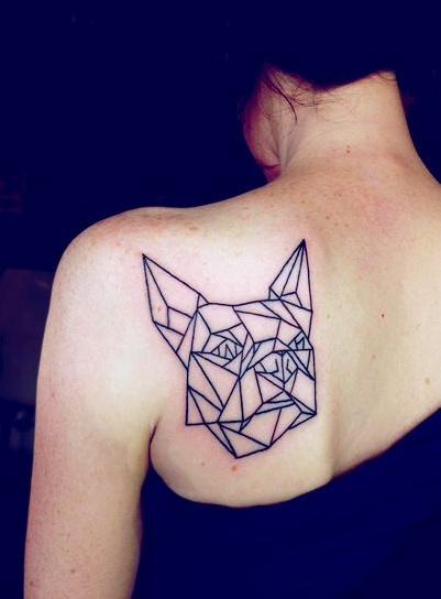 French Bulldog tattoos back