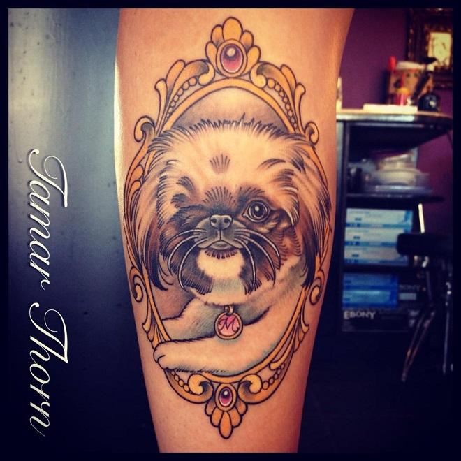 Pekingese Tattoo design