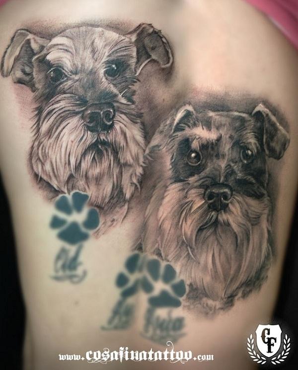 Schnauzer 3d tattoos
